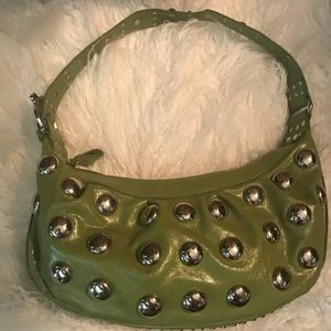 Chartreuse green purse